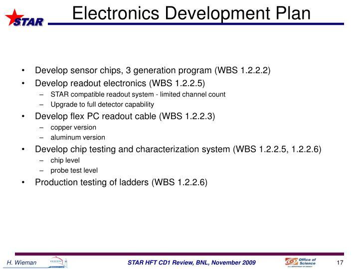 Electronics Development Plan