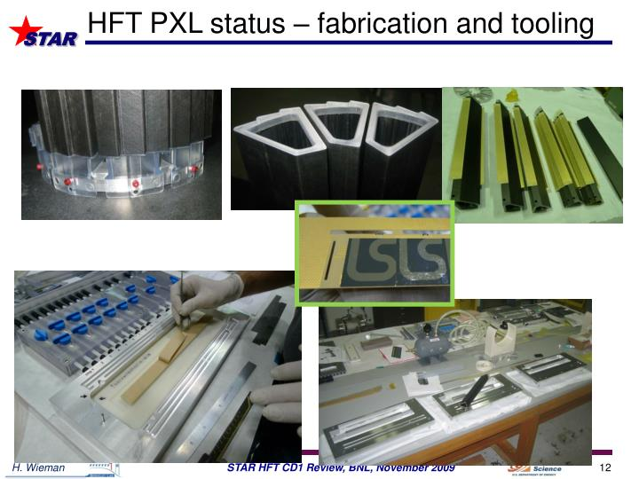HFT PXL status – fabrication and tooling