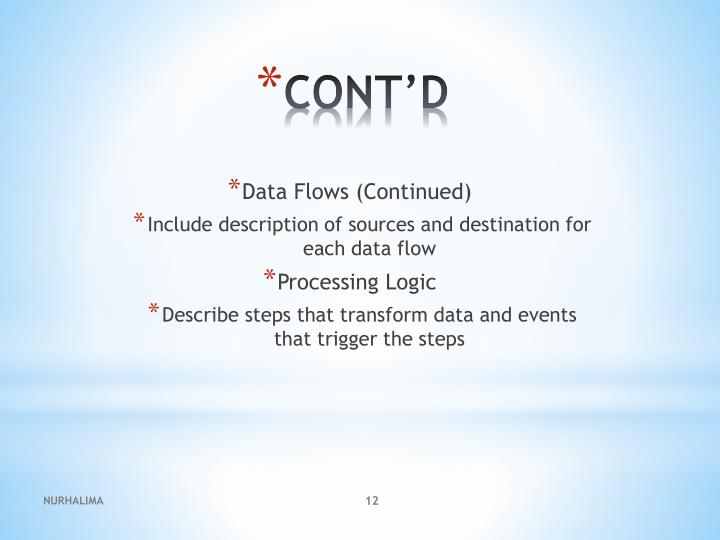 Data Flows (Continued)