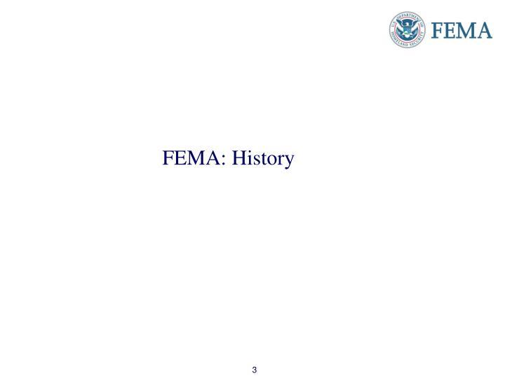 FEMA: History