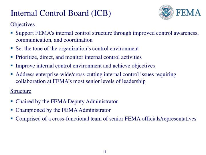 Internal Control Board (ICB)
