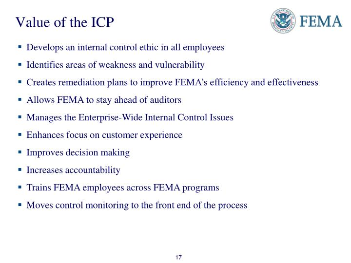 Value of the ICP