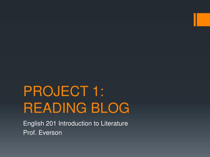 Project 1 reading blog