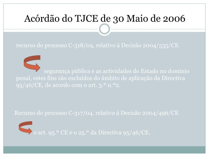 Acórdão do TJCE de 30 Maio de 2006