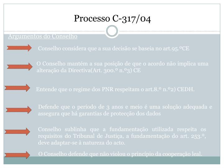 Processo C-317/04