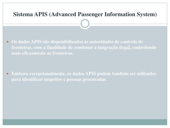 Sistema APIS (Advanced Passenger Information System)