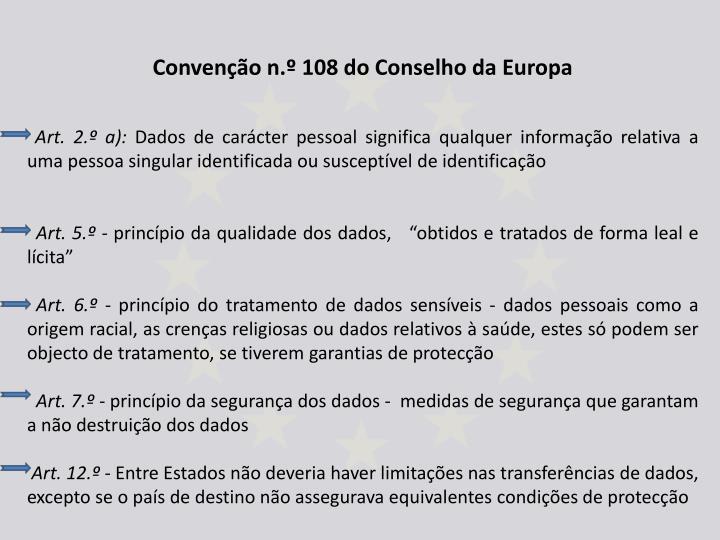 Convenção n.º 108 do Conselho da Europa