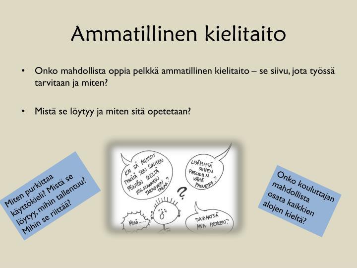 Ammatillinen kielitaito