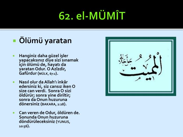 62. el-MÜMÎT