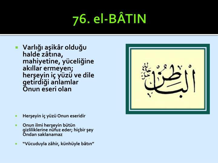 76. el-BÂTIN