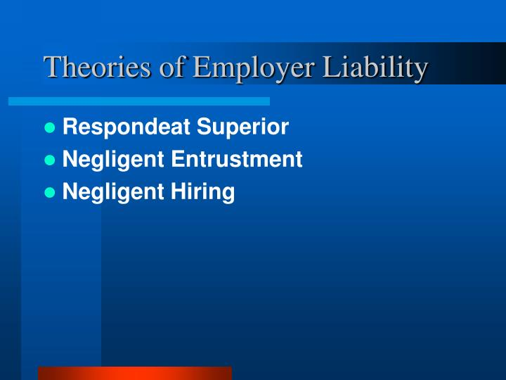 employers liability in negligence essay