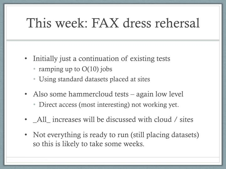 This week: FAX dress