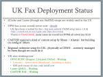 uk fax deployment status