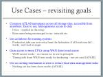 use cases revisiting goals