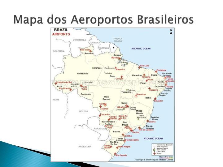 Mapa dos Aeroportos Brasileiros