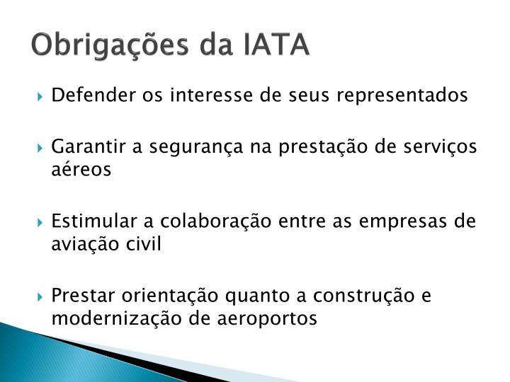 Obrigações da IATA