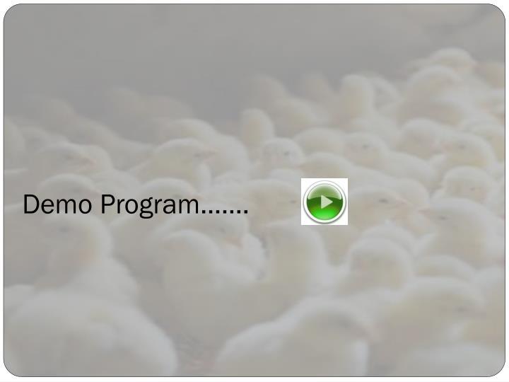 Demo Program…….