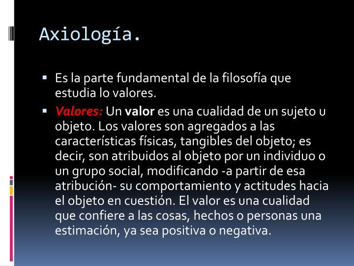 Axiología.