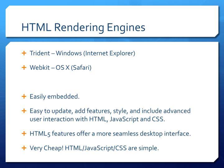 HTML Rendering Engines