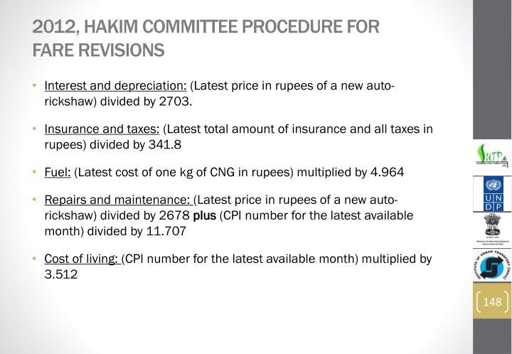 2012, Hakim