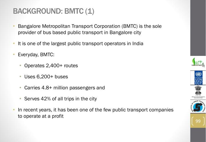 Background: BMTC (1)
