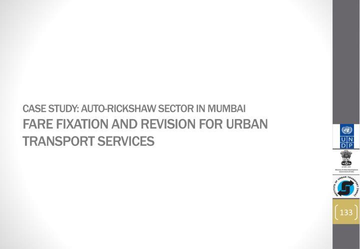 Case Study: Auto-rickshaw sector in Mumbai