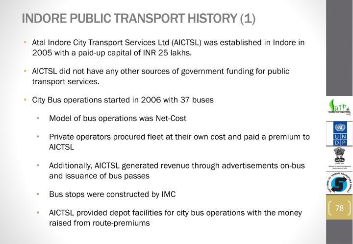Indore Public Transport History (1)