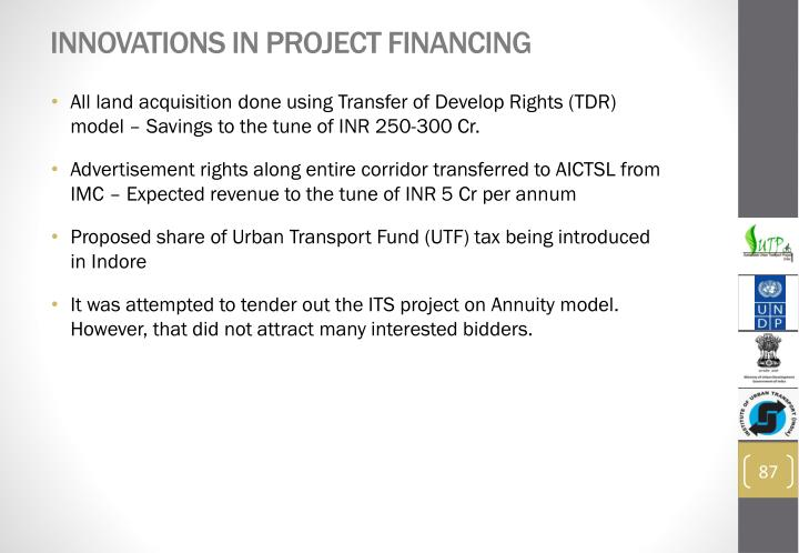 Innovations in Project Financing