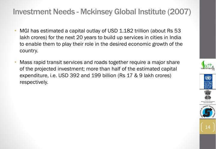 Investment Needs -