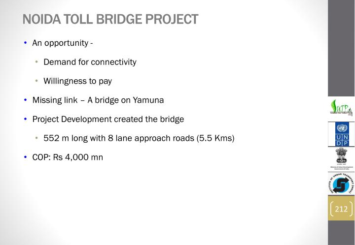 Noida Toll Bridge Project