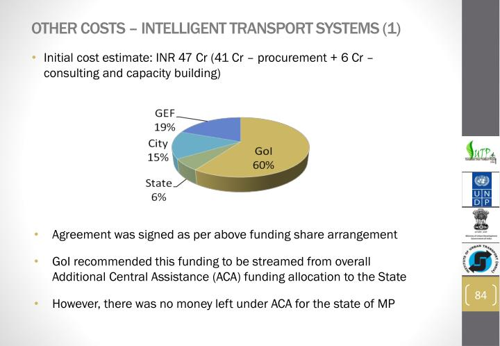 Other costs – Intelligent Transport Systems (1)