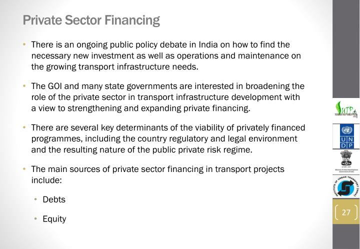 Private Sector Financing