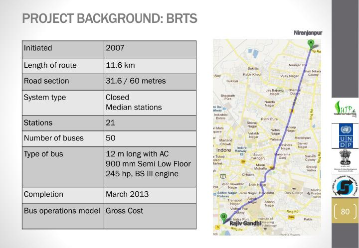 Project Background: BRTS
