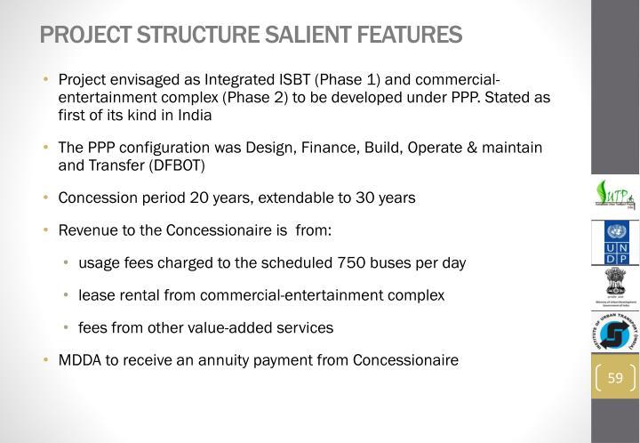 Project Structure Salient Features