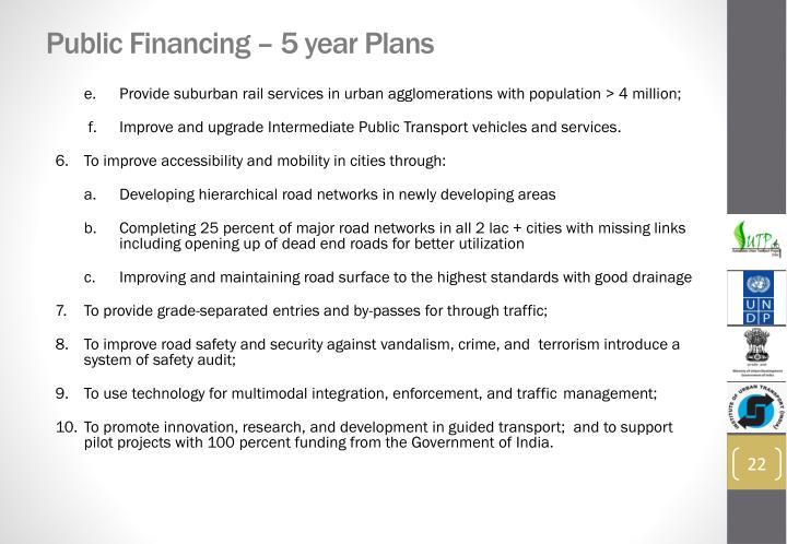 Public Financing – 5