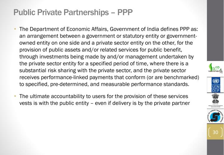 Public Private Partnerships – PPP