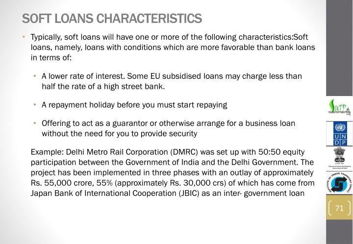 Soft Loans Characteristics