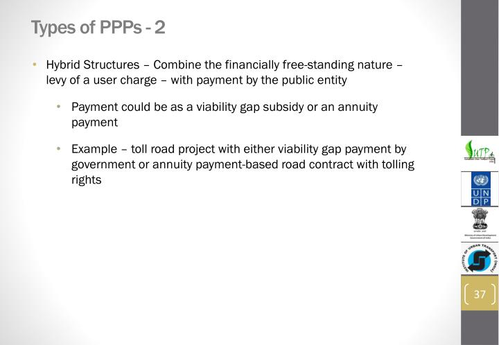Types of PPPs - 2