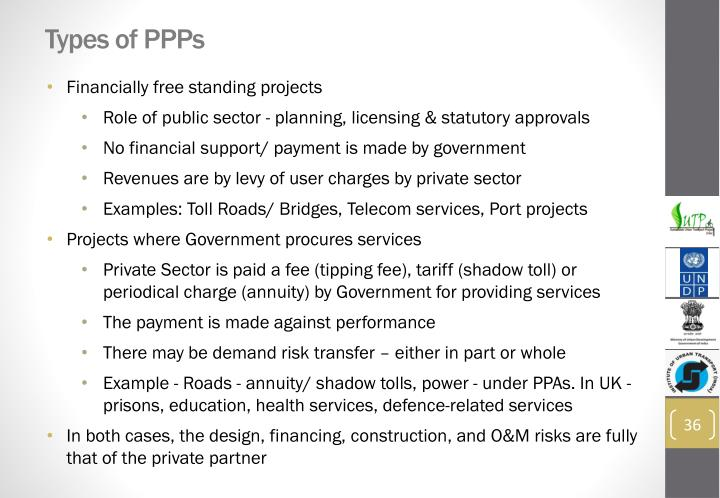 Types of PPPs