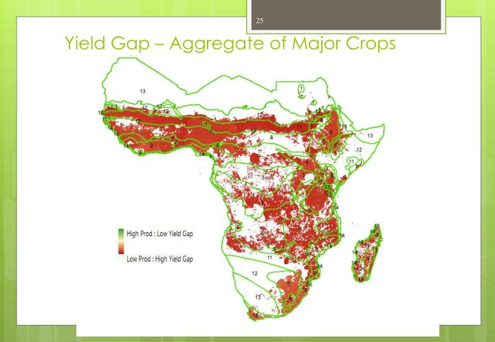 Yield Gap – Aggregate of Major Crops