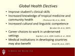 global health electives