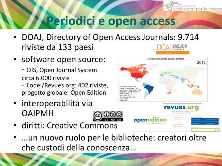 Periodici e open