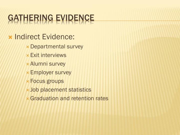 Indirect Evidence: