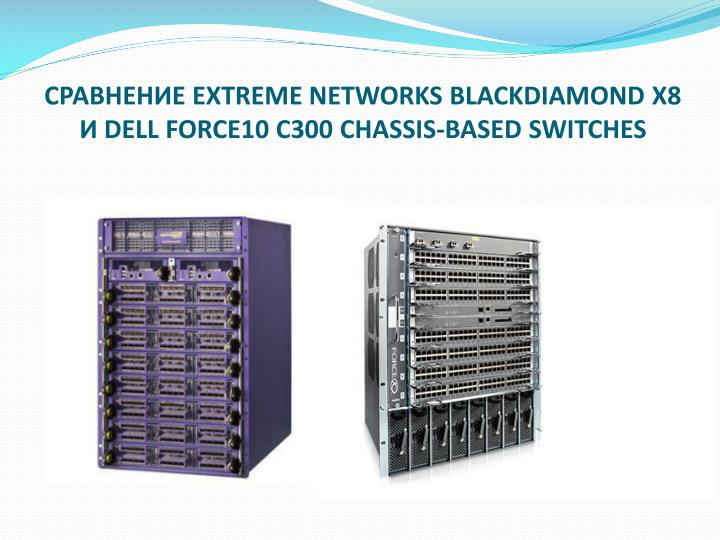 СРАВНЕНИЕ EXTREME NETWORKS BLACKDIAMOND X8 И DELL FORCE10 C300 CHASSIS-BASED