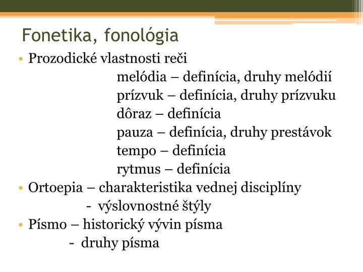 Fonetika, fonológia