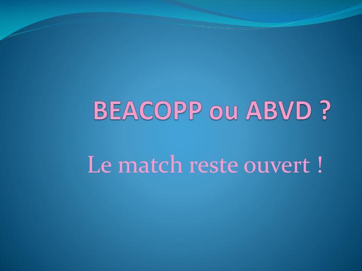 BEACOPP ou ABVD ?