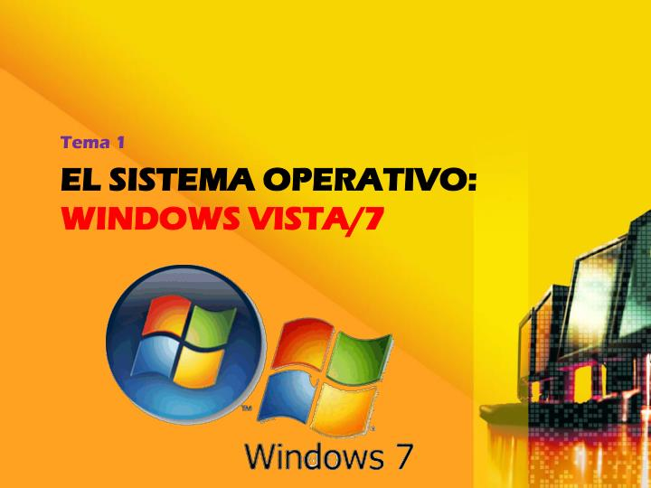 El sistema operativo windows vista 7