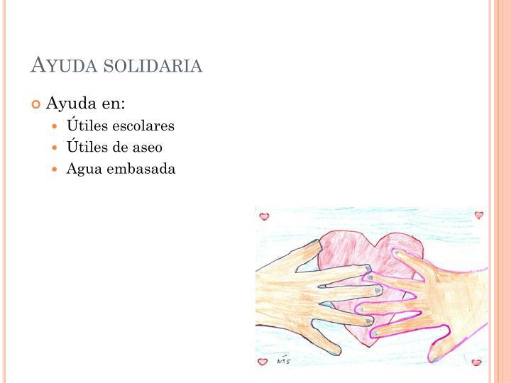 Ayuda solidaria