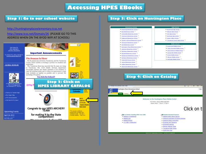 Accessing HPES EBooks