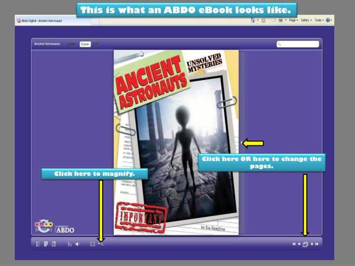 This is what an ABDO eBook looks like.